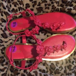 Michael Kors Hot Pink Petals Sandals; 8.5m; NWT